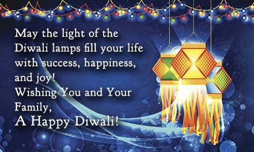 Wishing you and your family a happy diwali hanging chandeliers
