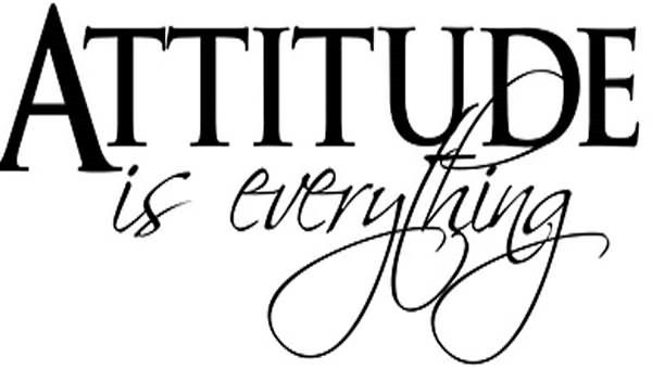 Attitude Is Everything Quote Storemypic