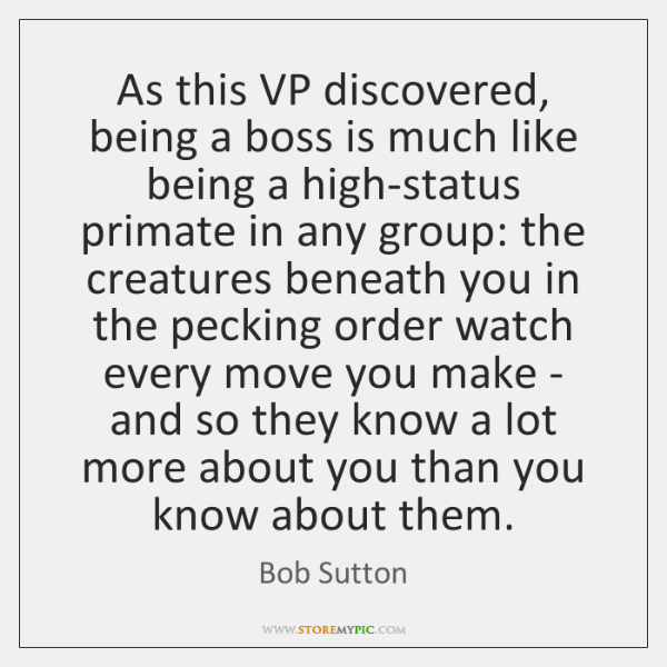 As this VP discovered, being a boss is much like being a ...