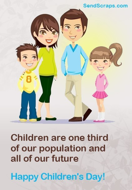 Children are one third of our population happy childrens day