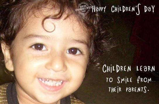 Children learn to smile from their parents happy childrens day