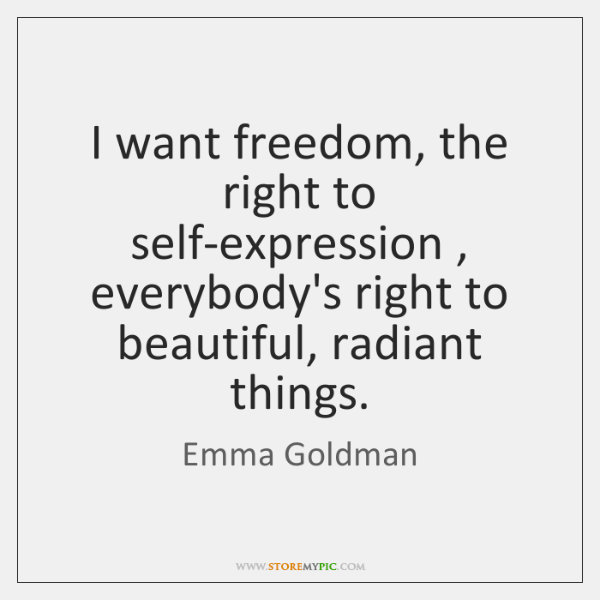 freedom of self expression