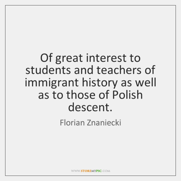 Of great interest to students and teachers of immigrant history as well ...
