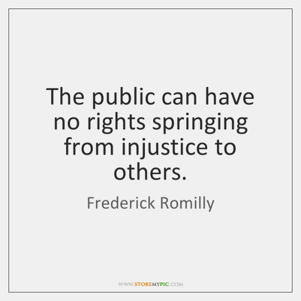 The public can have no rights springing from injustice to others.