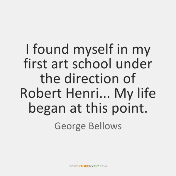 I found myself in my first art school under the direction of ...