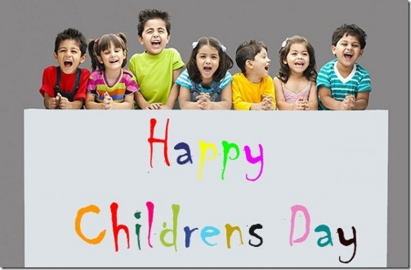 Happy childrens day colorful image