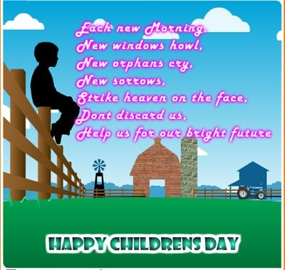 Happy childrens day quote