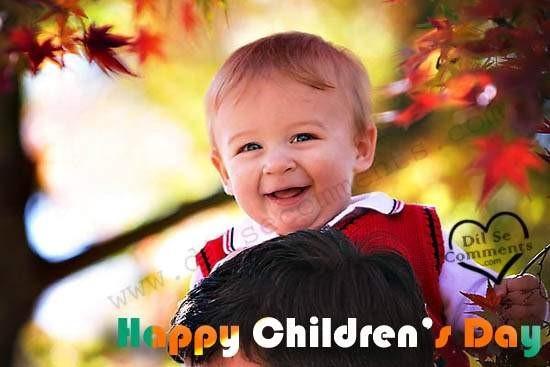 Happy childrens day smiling child