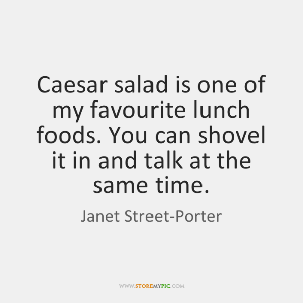 Caesar salad is one of my favourite lunch foods. You can shovel ...