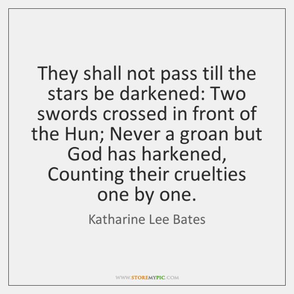 They shall not pass till the stars be darkened: Two swords crossed ...