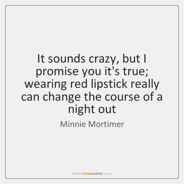 It sounds crazy, but I promise you it's true; wearing red lipstick ...