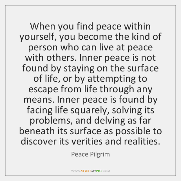 Rondi Pacheco On Twitter When You Find Peace Within Yourself You