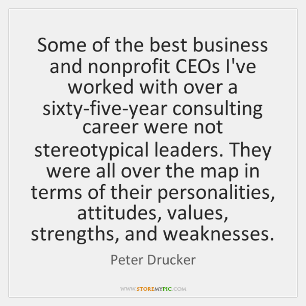 Some of the best business and nonprofit CEOs I've worked with over ...