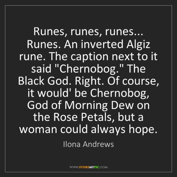 Ilona Andrews: Runes, runes, runes... Runes. An inverted Algiz rune....