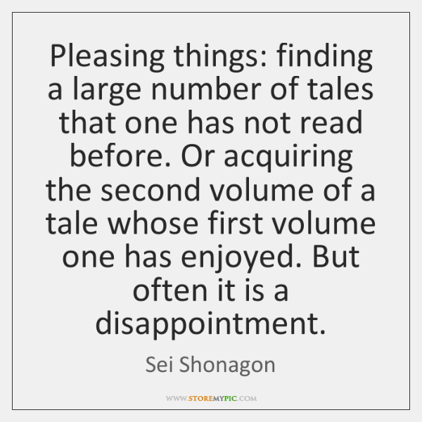 Pleasing things: finding a large number of tales that one has not ...