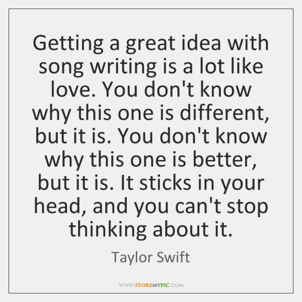 Getting A Great Idea With Song Writing Is A Lot Like Love