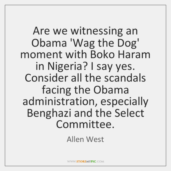 Are we witnessing an Obama 'Wag the Dog' moment with Boko Haram ...