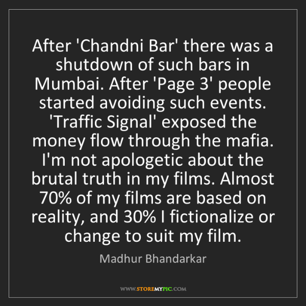 Madhur Bhandarkar: After 'Chandni Bar' there was a shutdown of such bars...