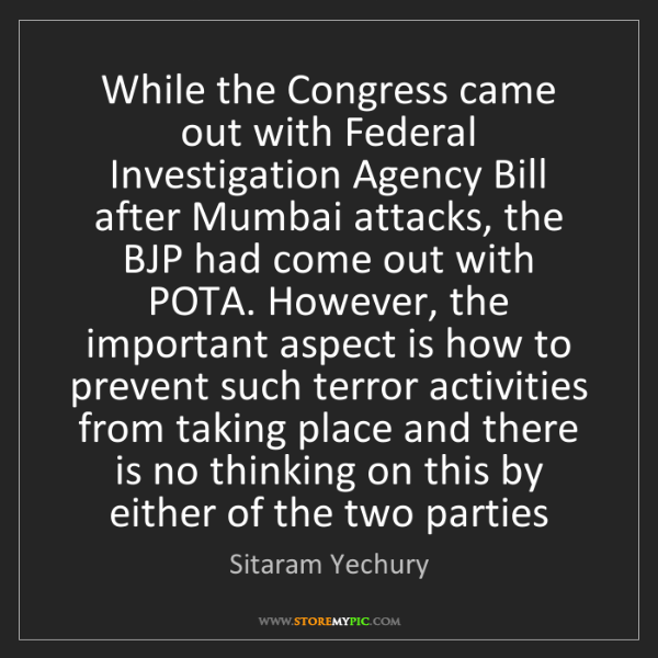 Sitaram Yechury: While the Congress came out with Federal Investigation...