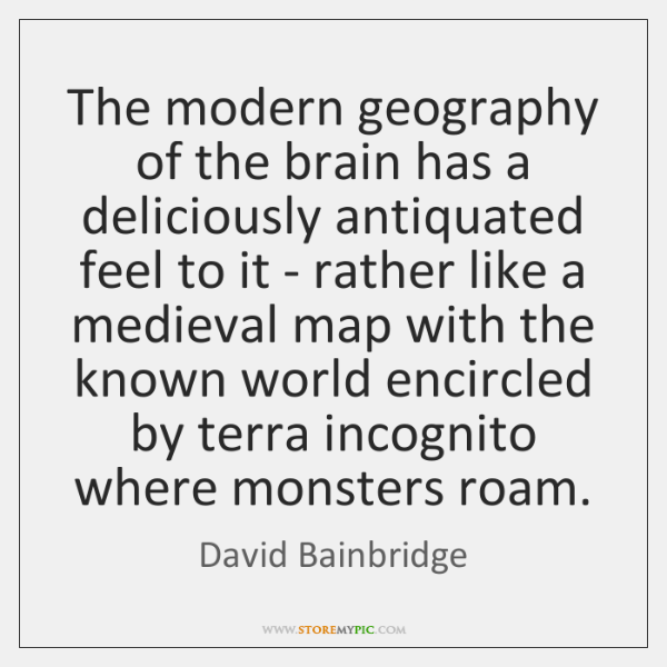 The modern geography of the brain has a deliciously antiquated feel to ...