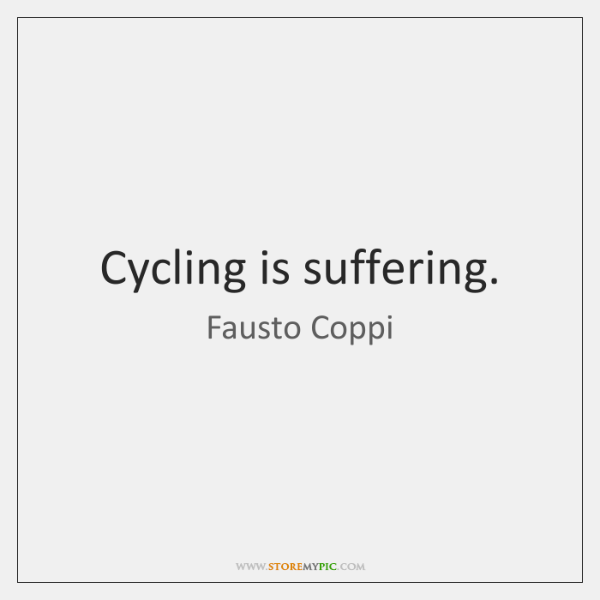 Cycling is suffering.