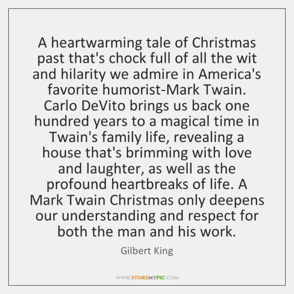 A heartwarming tale of Christmas past that's chock full of all the ...