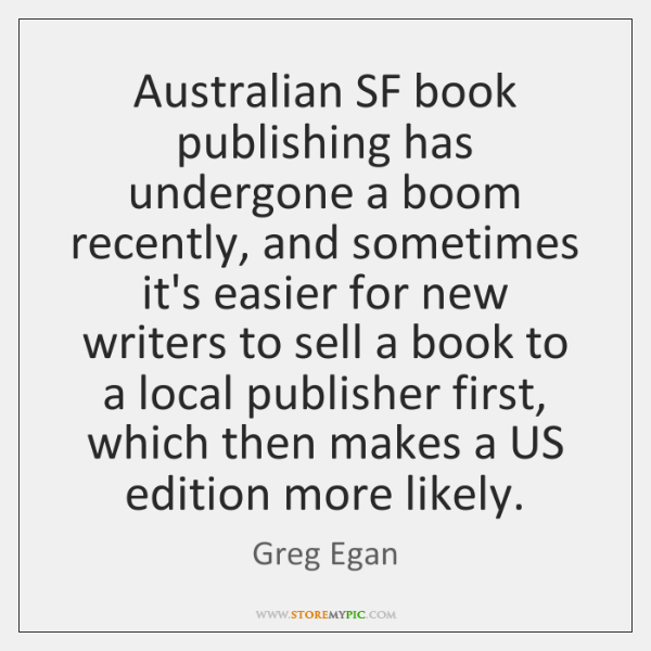 Australian SF book publishing has undergone a boom recently, and sometimes it's ...