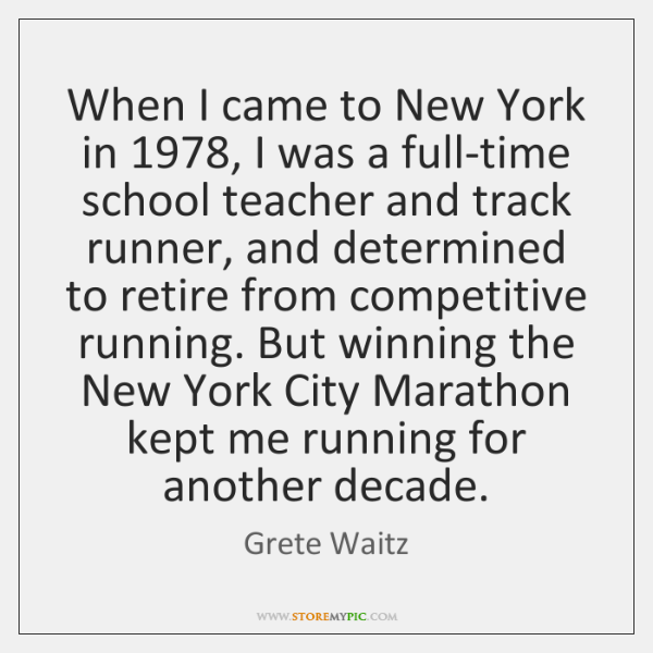 When I came to New York in 1978, I was a full-time school ...