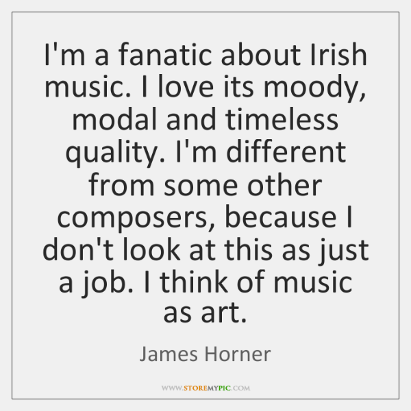 I'm a fanatic about Irish music. I love its moody, modal and ...