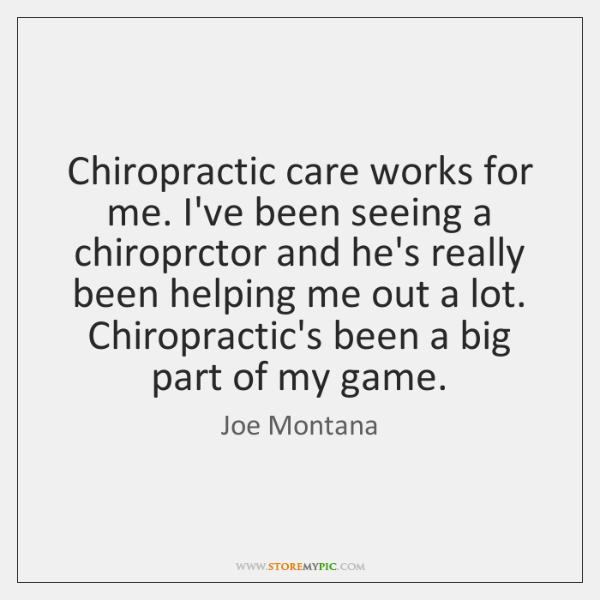 Chiropractic care works for me. I've been seeing a chiroprctor and he's ...