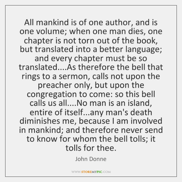 all mankind is of one author