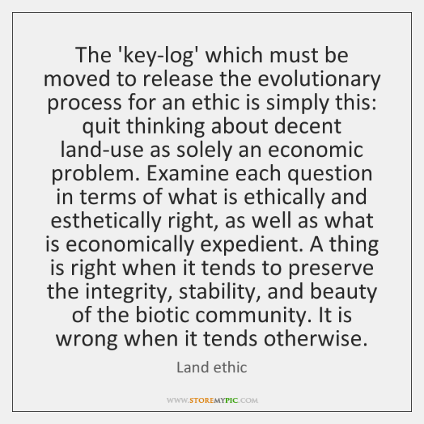 The 'key-log' which must be moved to release the evolutionary process for ...