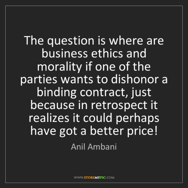 Anil Ambani: The question is where are business ethics and morality...