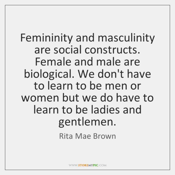 masculinity and femininity social construction