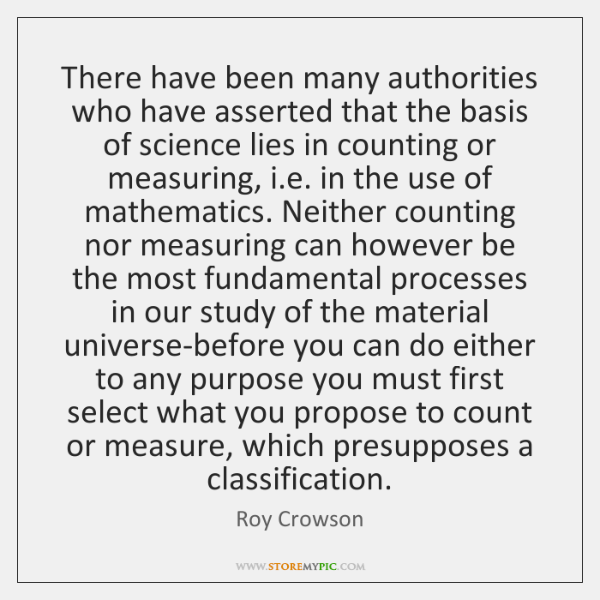 There have been many authorities who have asserted that the basis of ...