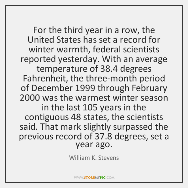 For the third year in a row, the United States has set ...