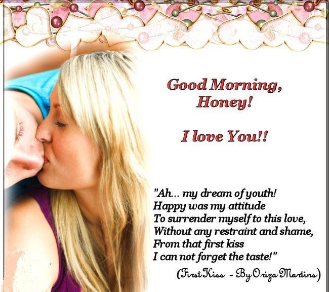 Gemeinsame Good morning honey i love you ah my dream of youth happy was my &GZ_81