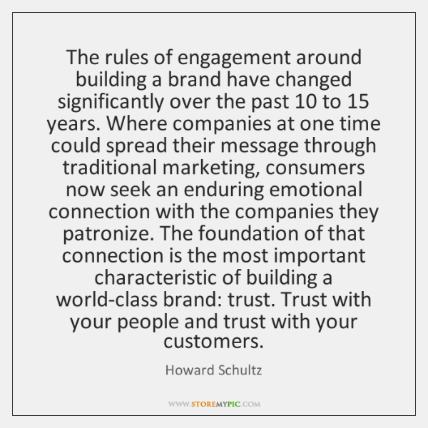 The rules of engagement around building a brand have changed significantly over ...
