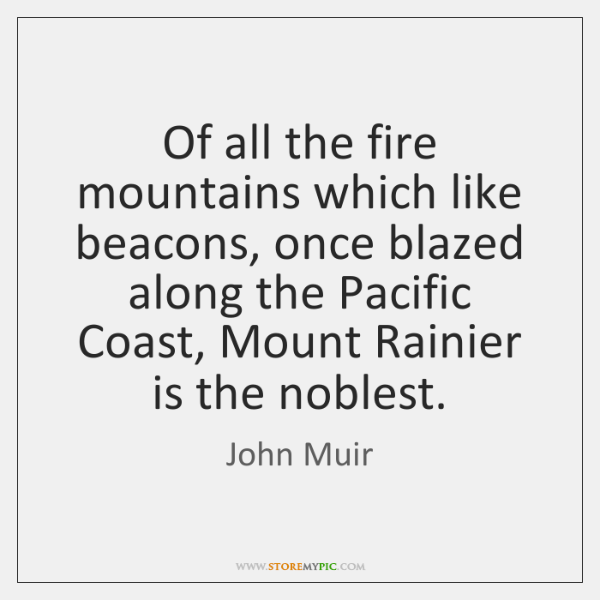 Of all the fire mountains which like beacons, once blazed along the ...