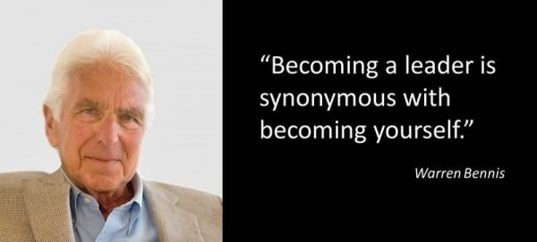 Becoming a leader is synonymous with becoming yourself