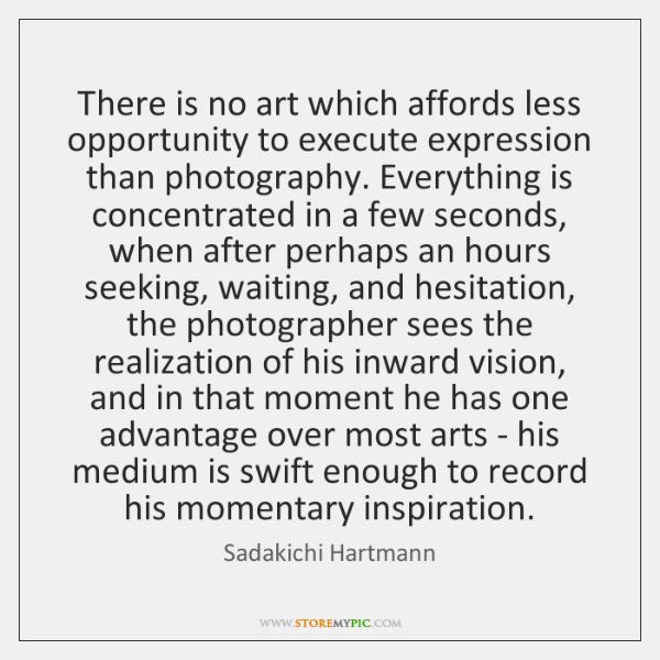 There is no art which affords less opportunity to execute expression than ...