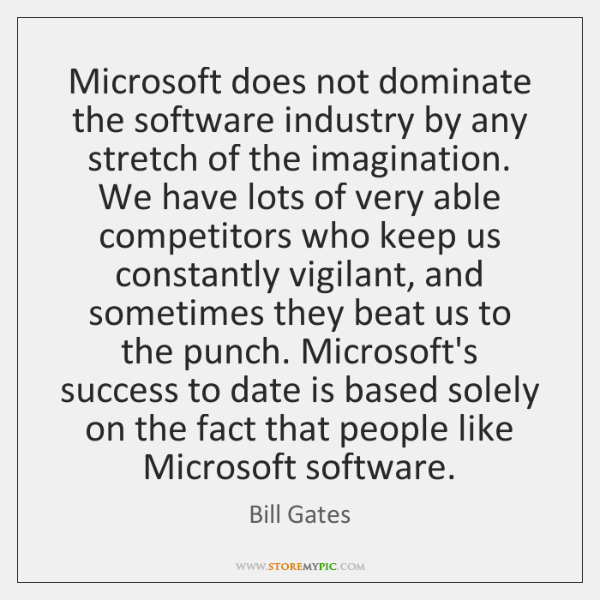 why microsoft so successful How can the answer be improved.