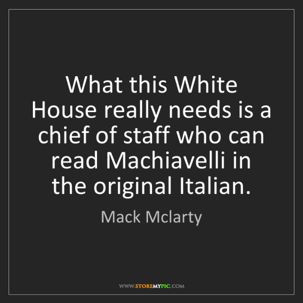 Mack Mclarty: What this White House really needs is a chief of staff...