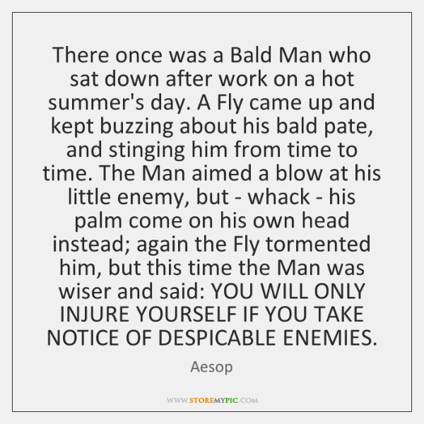 There once was a Bald Man who sat down after work on ...