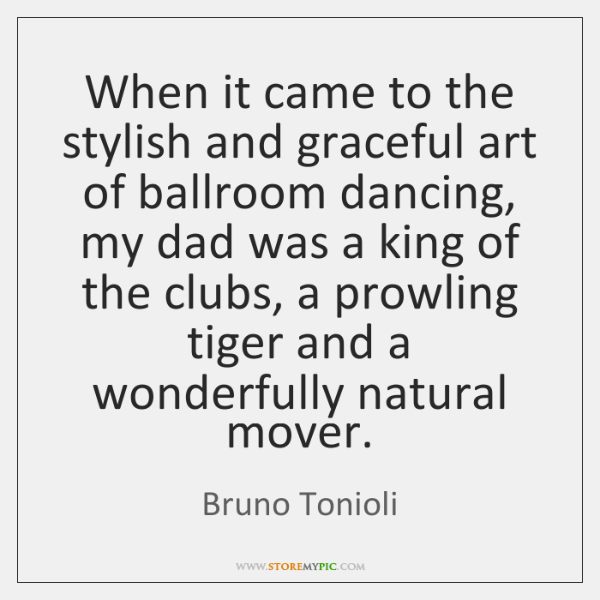 When it came to the stylish and graceful art of ballroom dancing, ...