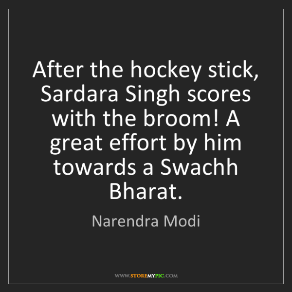 Narendra Modi: After the hockey stick, Sardara Singh scores with the...