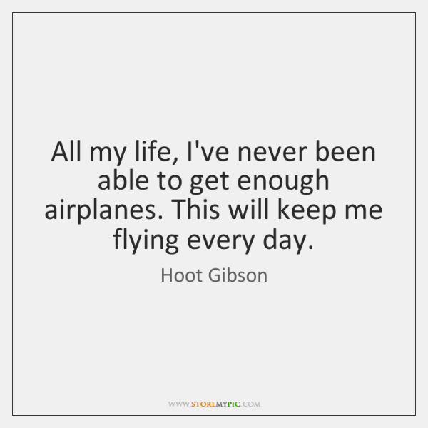 All my life, I've never been able to get enough airplanes. This ...