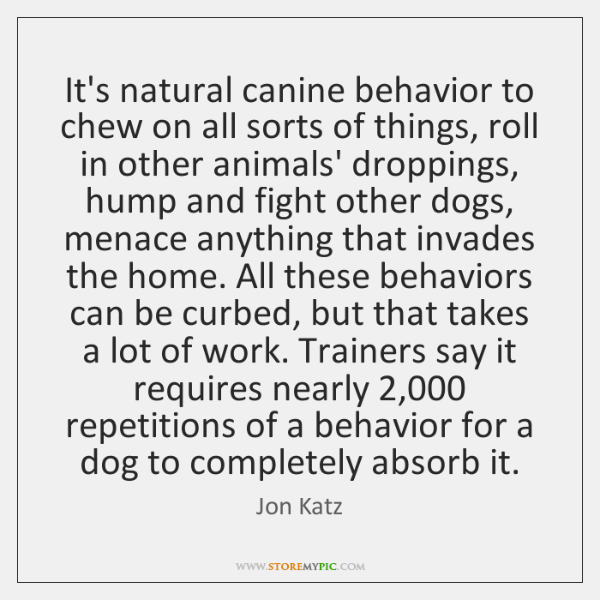 It's natural canine behavior to chew on all sorts of things, roll ...