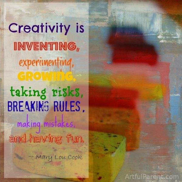 Creativity is inventing experimenting growing taking risks breaking rules makin mistak