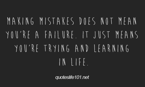Mistake Quotes Storemypic